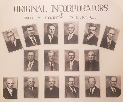 Founding members of Whitley County REMC